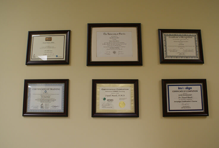 Our team's certificates awards and degrees