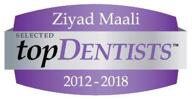 Ziyad Maali, selected top dentists logo