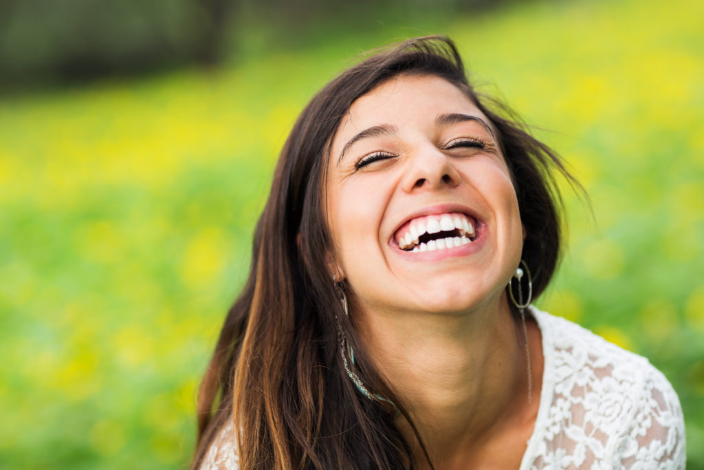 young attractive woman smiling